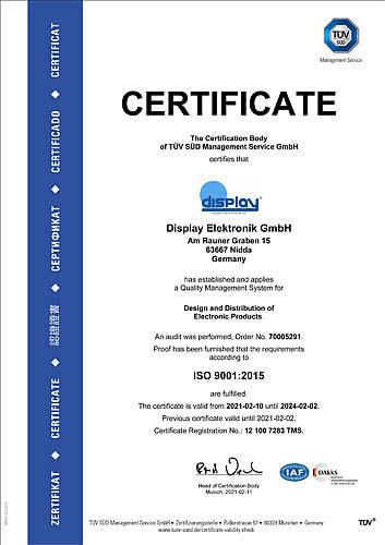 Certificate als PDF